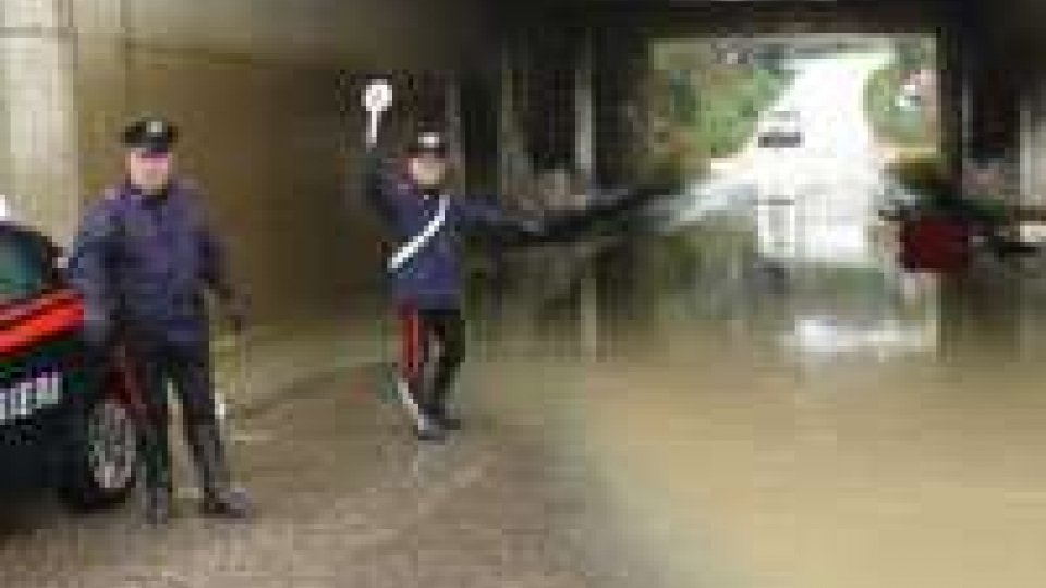 Maltempo. Diversi interventi dei Carabinieri di Rimini