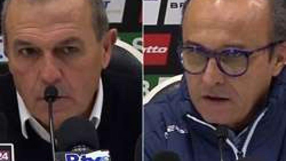 Castori e MarinoSerie B: al Cesena il posticipo con il Brescia. Gli allenatori