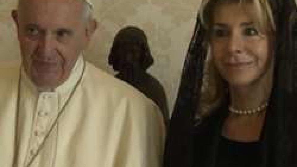 Maria Alessandra Albertini ha presentato a Papa Francesco le lettere credenziali