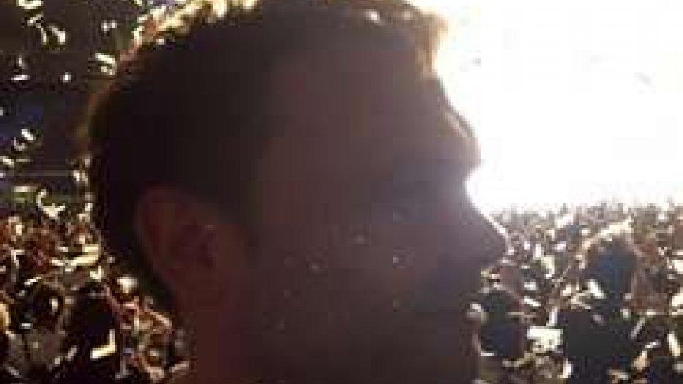 Il giornalista Lorenzo Giardi al Live Kom 2016La San Marino Rtv al primo dei quattro concerti di Vasco Rossi a Roma