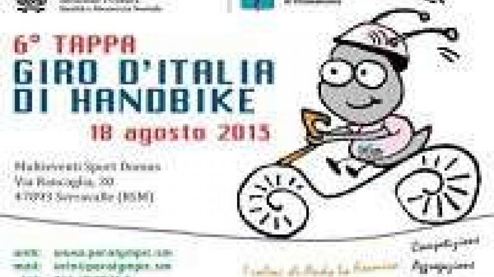Manca un mese alla tappa a San Marino del Giro d'Italia handbike