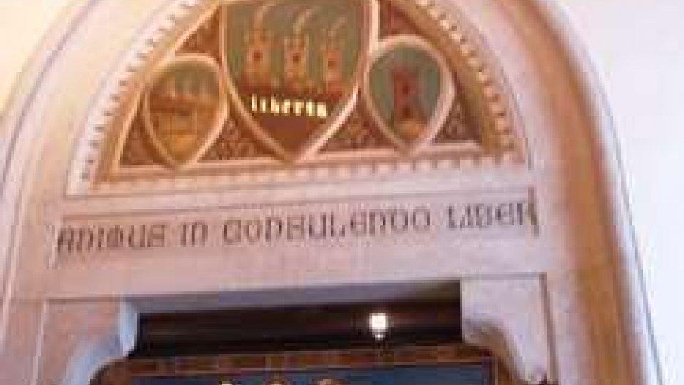 L'ingresso della Sala del ConsiglioProtagonisti dellasettimana politica la lotta agli illeciti sportivi eFondiss