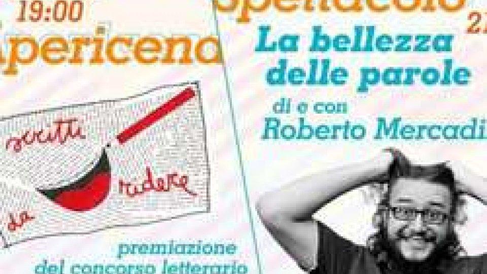 Premiazione della prima edizione del concorso per racconti brevi umoristici e a seguire lo spettacolo di e con Roberto Mercadini