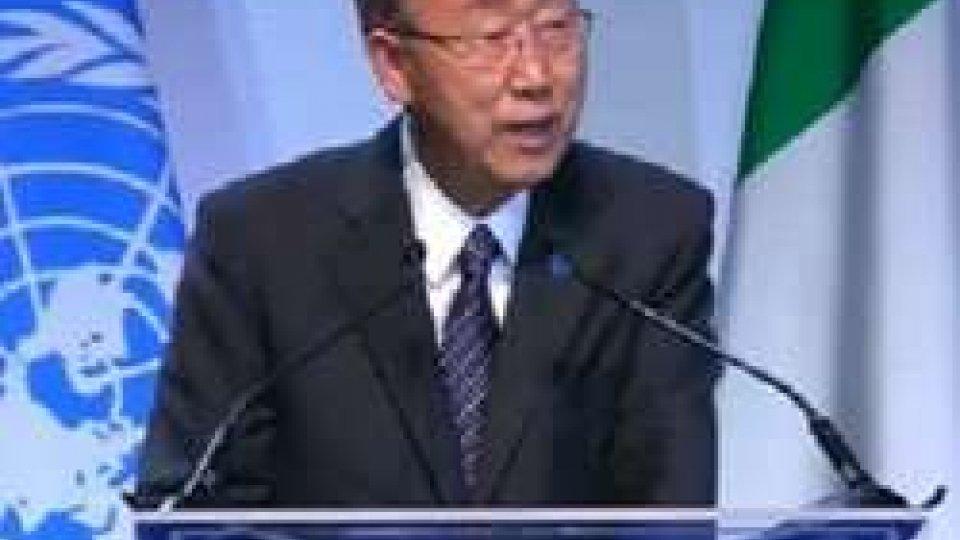 Giornata mondiale dell'alimentazione: all'Expo arriva Ban Ki-moonGiornata mondiale dell'alimentazione: all'Expo arriva Ban Ki-moon