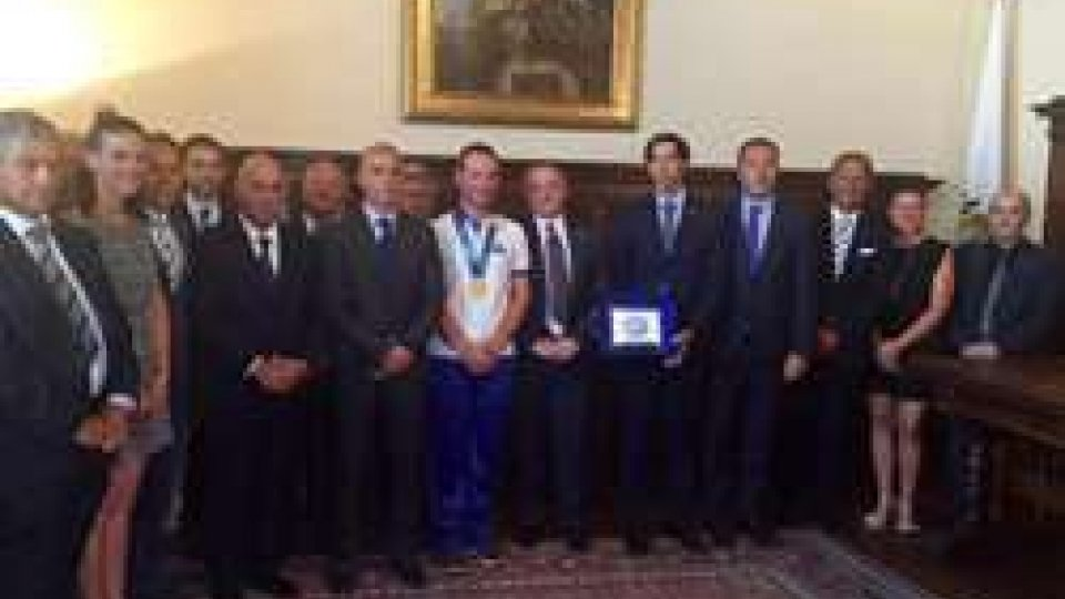 Con l'Udienza dalla Reggenza la Federazione Sammarinese di Tiro a Volo celebra il successo della Coppa del Mondo