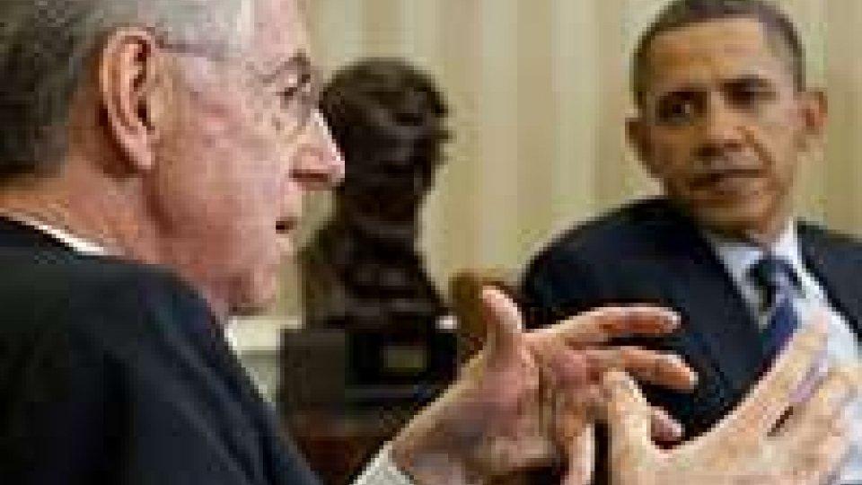 Crisi: Asse Monti-Obama, più sforzi per crescita e lavoro