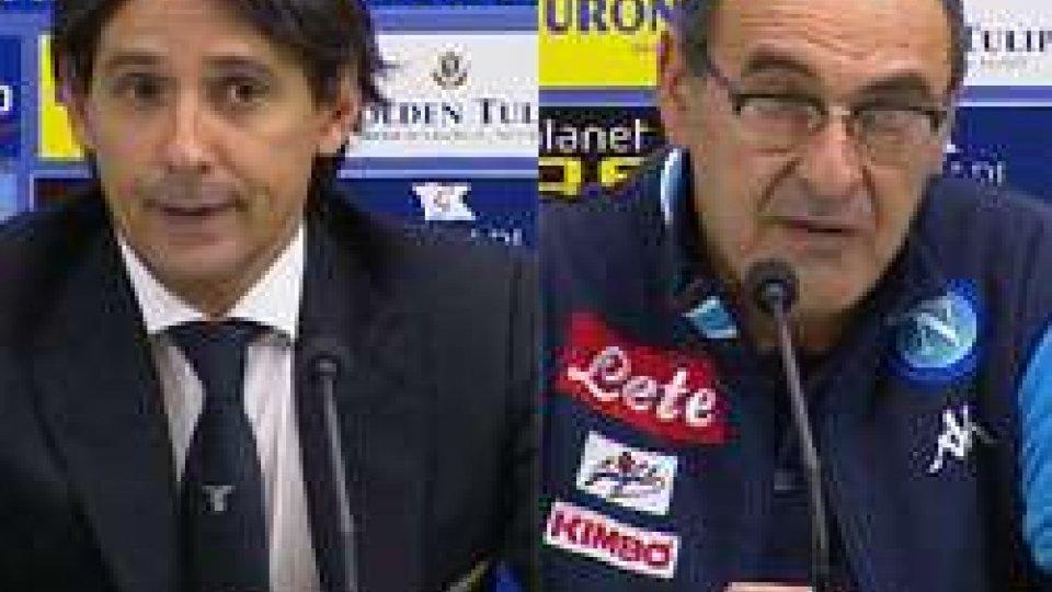 Inzaghi e SarriNapoli - Lazio 4-1, le interviste del post partita