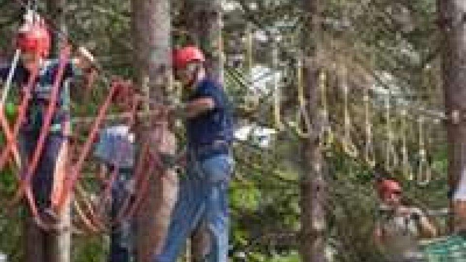 San Marino Adventures: bimbo cade da 5 metri di altezza