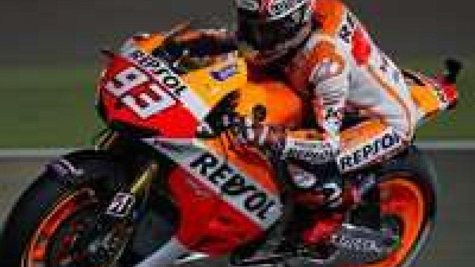 GP Qatar, spunta la Honda di Marquez davanti a Rossi e LorenzoMarquez brucia tutti