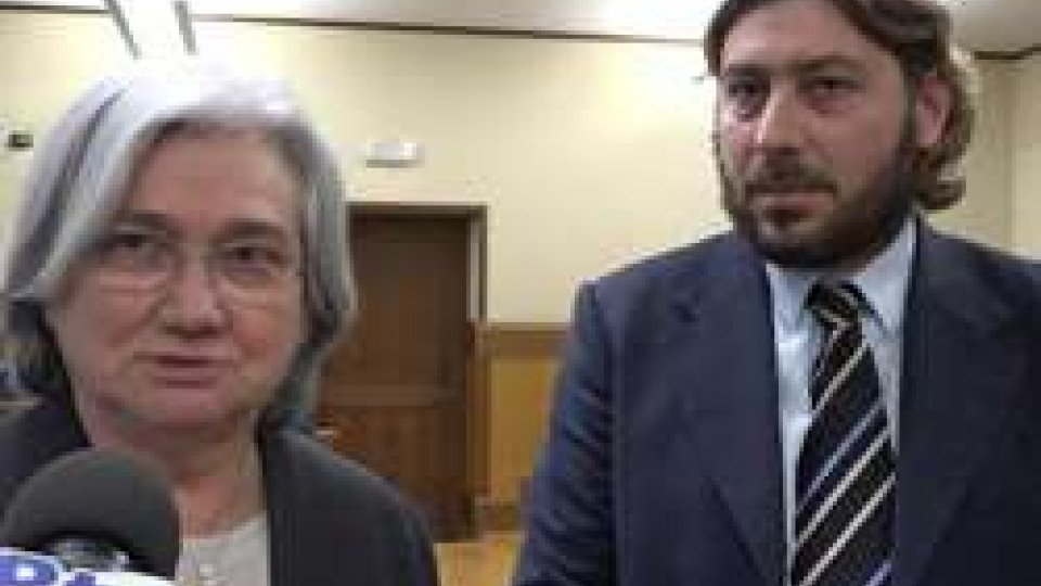 """Rosy Bindi e Federico Pedini AmatiRosy Bindi a Federico Pedini Amati: """"L'antimafia italiana a San Marino in giugno"""""""