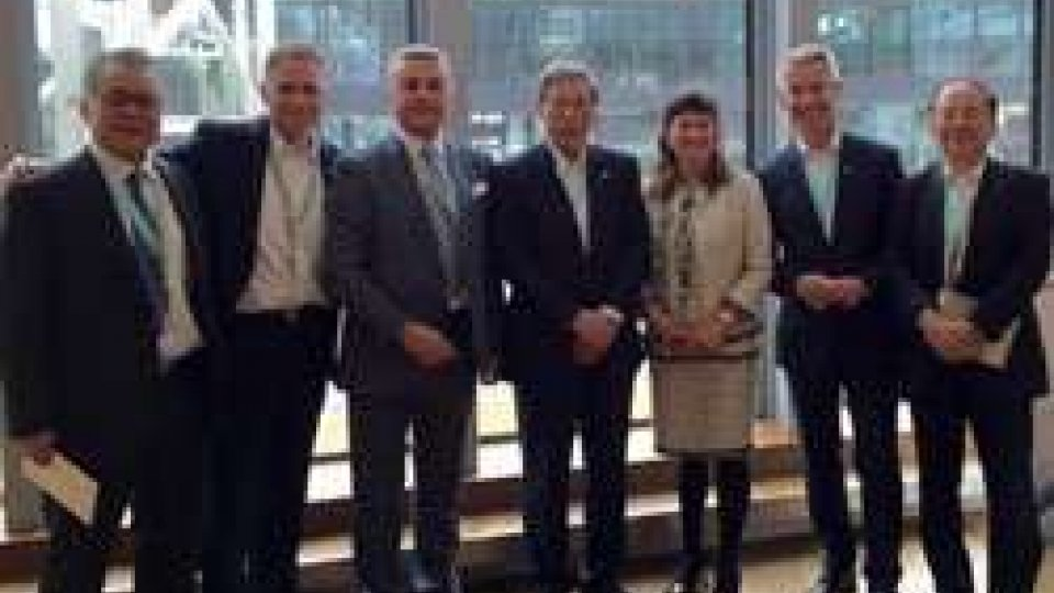 Il Segretario Mularoni incontra ad Amburgo i vertici del Gruppo Mitsubishi