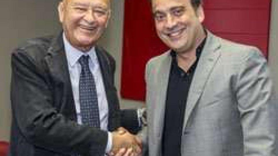 Lorenzo Cagnoni (a sinistra) e il presidente del CIB, Piero Gattoni