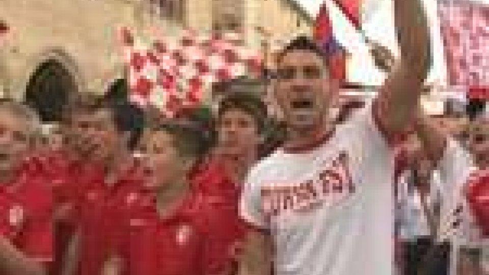 Festa grande per il Rimini appena promosso in Seconda Divisione