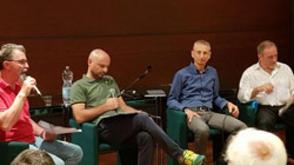 """Sala piena ieri sera a Domagnano per la conferenza CSU: """"Crisi delle banche, è necessario fare sistema con un'operazione verità e la concertazione"""""""