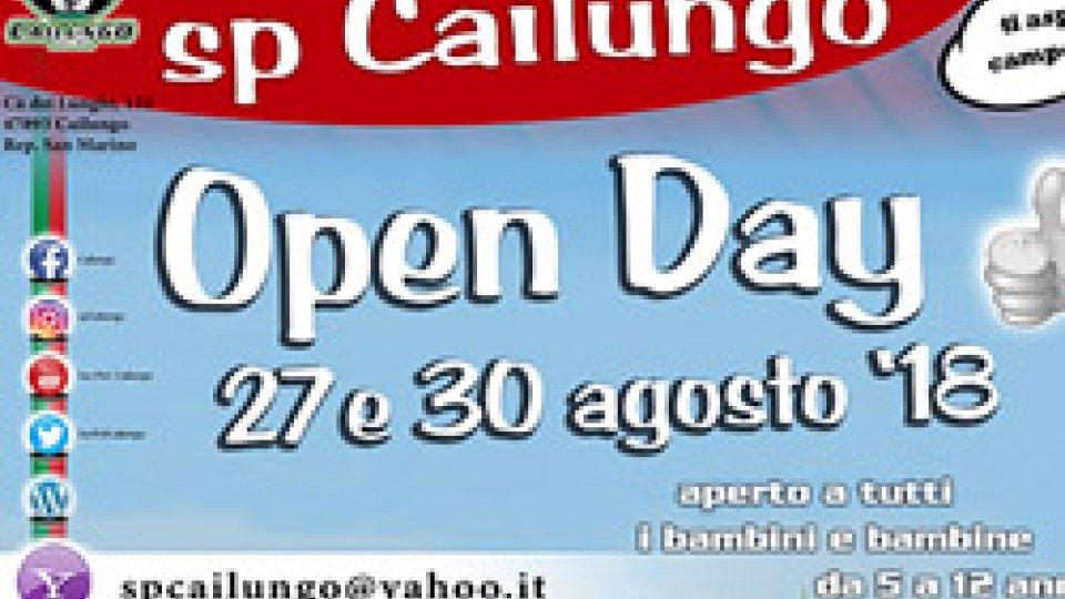 Sp Cailungo: gli open day della scola calcio