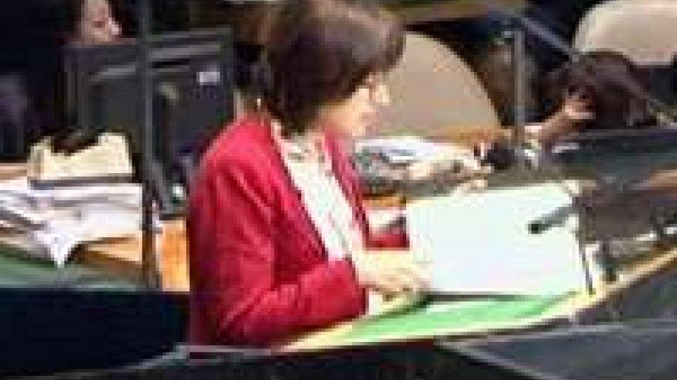 L'intervento della Mularoni alle Nazioni UniteL'intervento della Mularoni alle Nazioni Unite