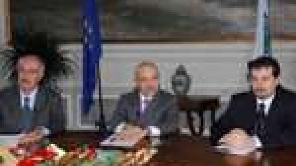 I segretari di stato Masi, Stolfi e Foschi