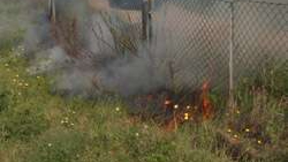 Incendio a bordo strada