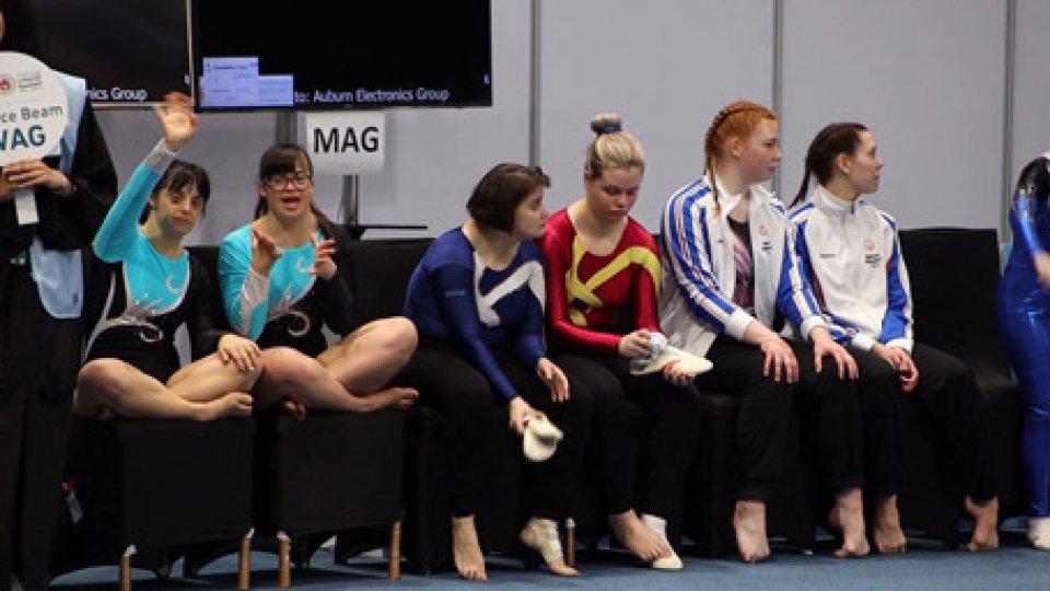 le atlete della ginnasticaSpecial Olympics Games: il via alle gare, si comincia dalla ginnastica artistica