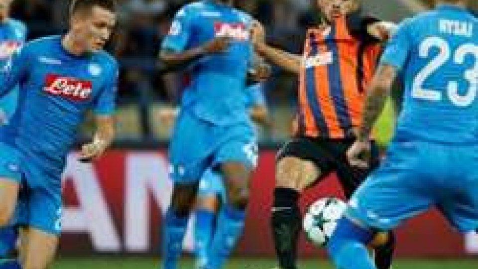 Spauracchio Europa: anche il Napoli non gira, lo Shakhtar vince 2-1