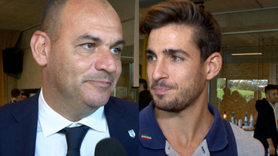 """Christian Forcellini e Luca CramarossaBeach Tennis Master Cup, Forcellini: """"A San Marino i migliori giocatori del mondo"""". Il n.1 Cramarossa: """"È un onore essere qui"""""""