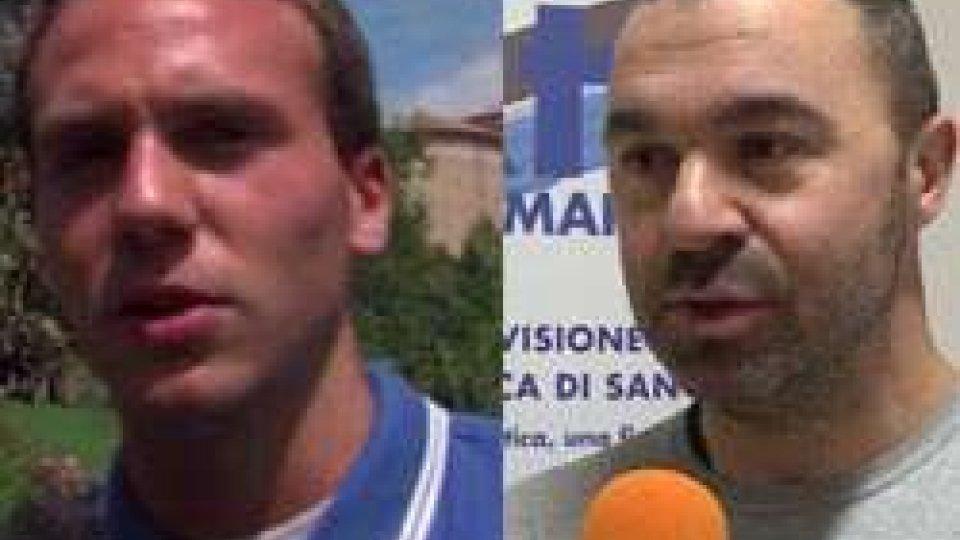 Julian Gualtieri e Damiano BattistiniBasket: botta e risposta tra Julian Gualtieri e il Presidente Battistini