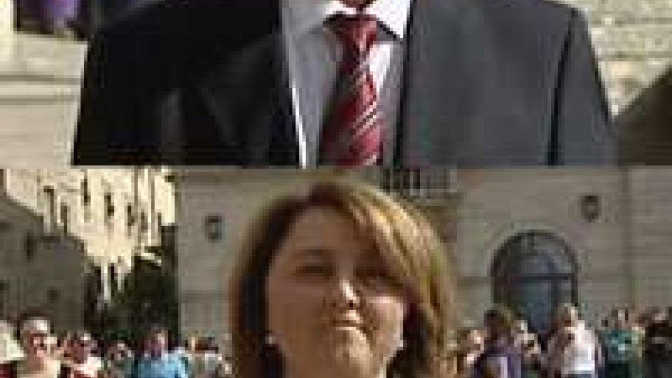 I nuovi Capitani Reggenti: Gian Carlo Capicchioni e Anna Maria Muccioli