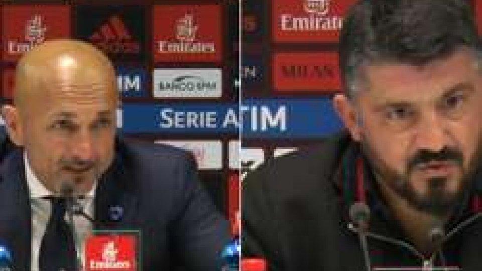 Spalletti e GattusoDerby Milan-Inter: i commenti di Spalletti e Gattuso