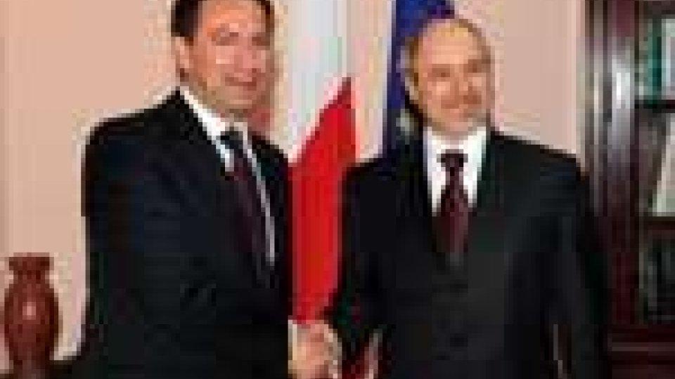 San Marino - Il Segretario di Stato Berardi incontra a Malta il collega De Marco