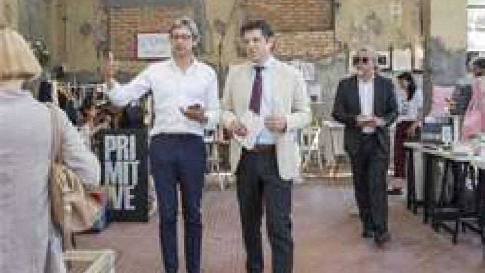 Il Rettore dell'Università di Bologna e il sindaco di Rimini Andrea Gnassi inaugurano Matrioska #11
