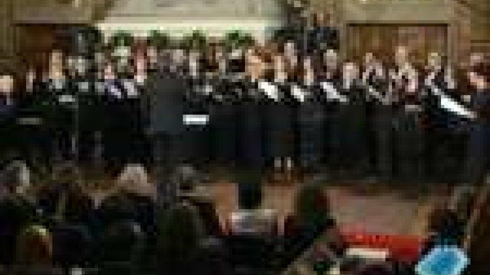 San Marino - Concerto a Palazzo: gli auguri in musicaConcerto a Palazzo: gli auguri in musica