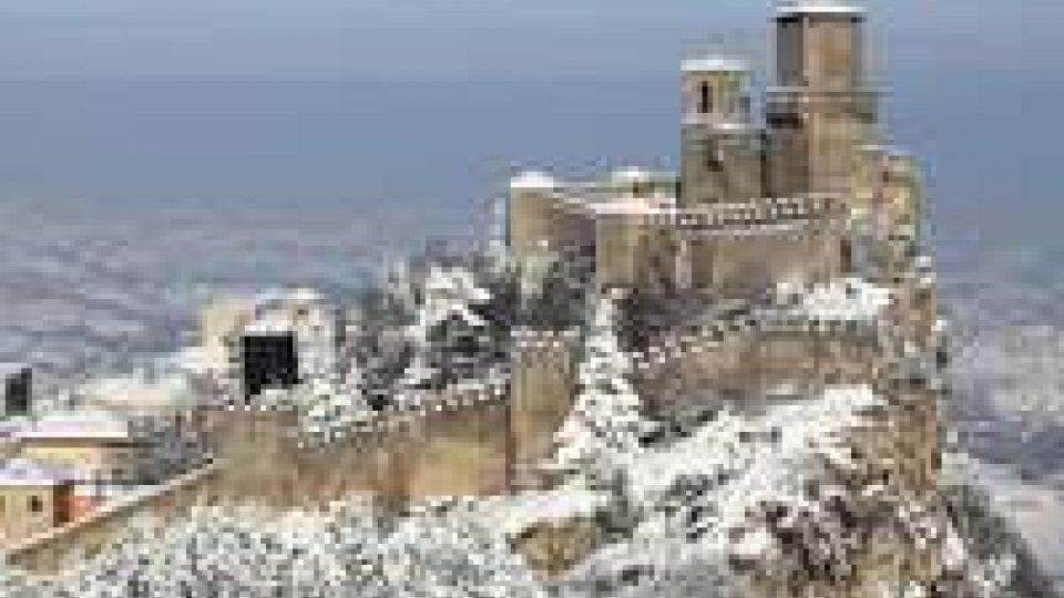 Da giovedì torna la neve sia a San Marino che sull'alta Valmarecchia