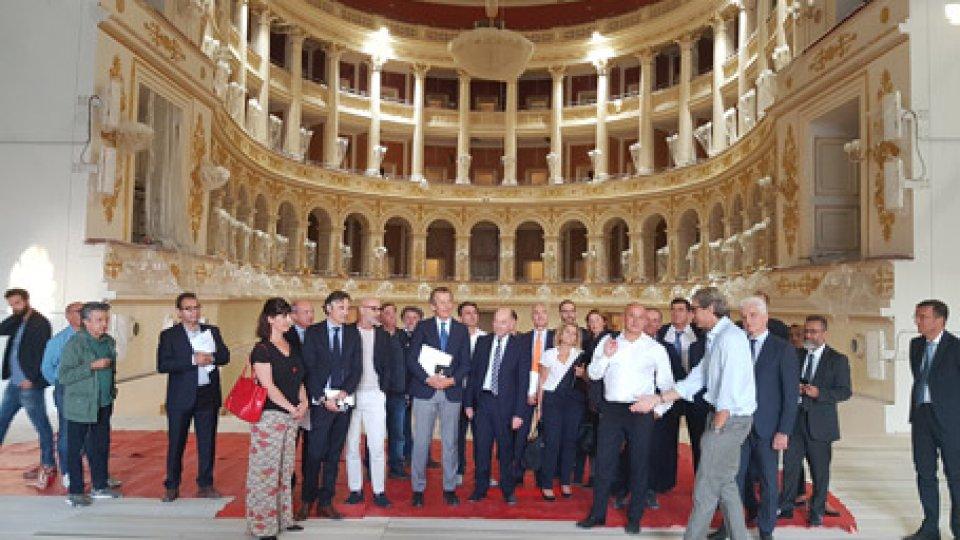 La visita di Confindustria Romagna al Teatro Galli