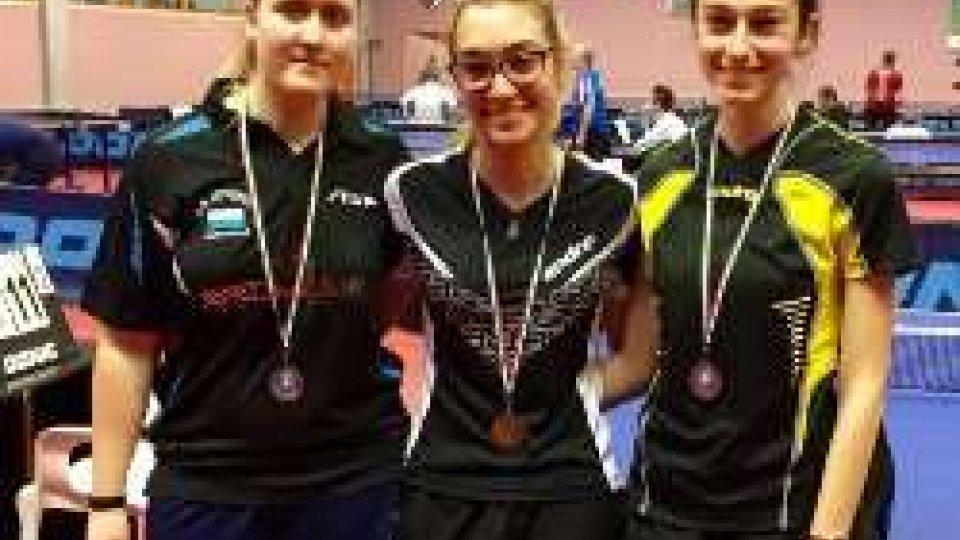 Tennis Tavolo: pieno di medaglie per i sammarinesi al Torneo Regionale Giovanile