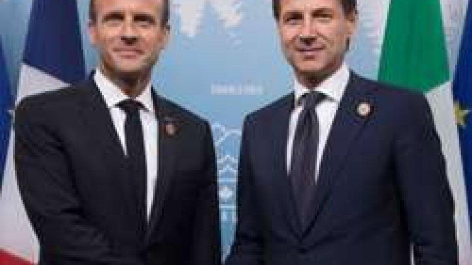 Macron e Conte @huffingtonpost