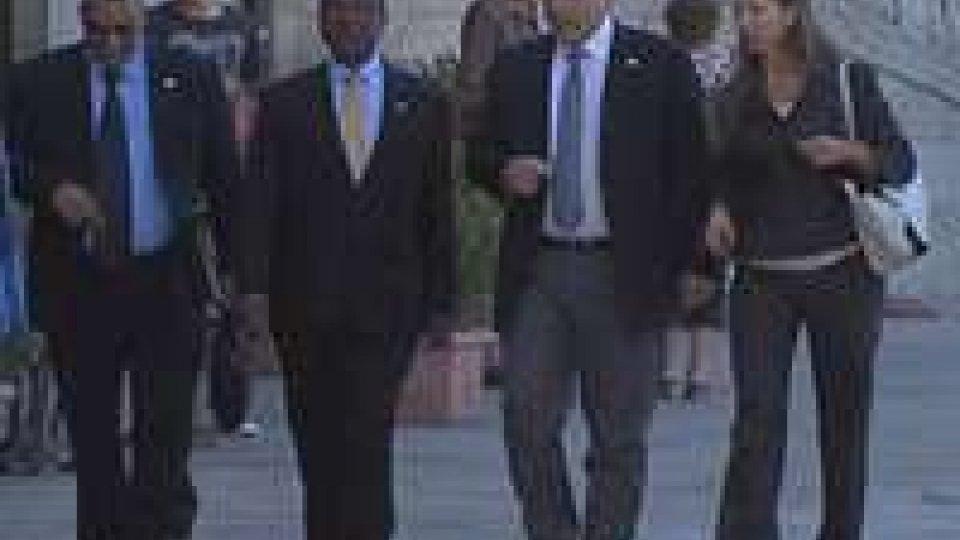 Vice-presidente Unione Africana in visita a San MarinoVice-presidente Unione Africana in visita a San Marino