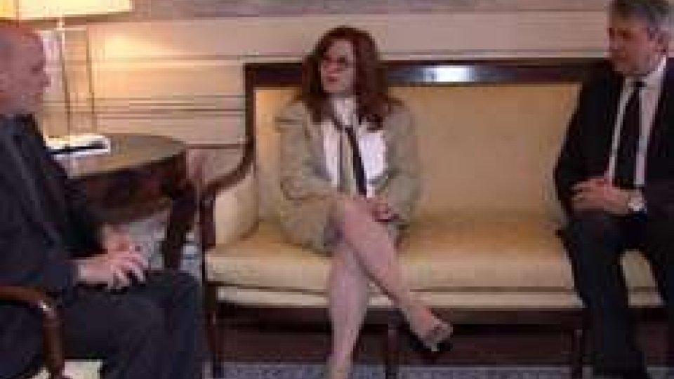 Giuseppe Morganti e Alba Soto PimentelSan Marino-Cuba, firma al programma di cooperazione culturale