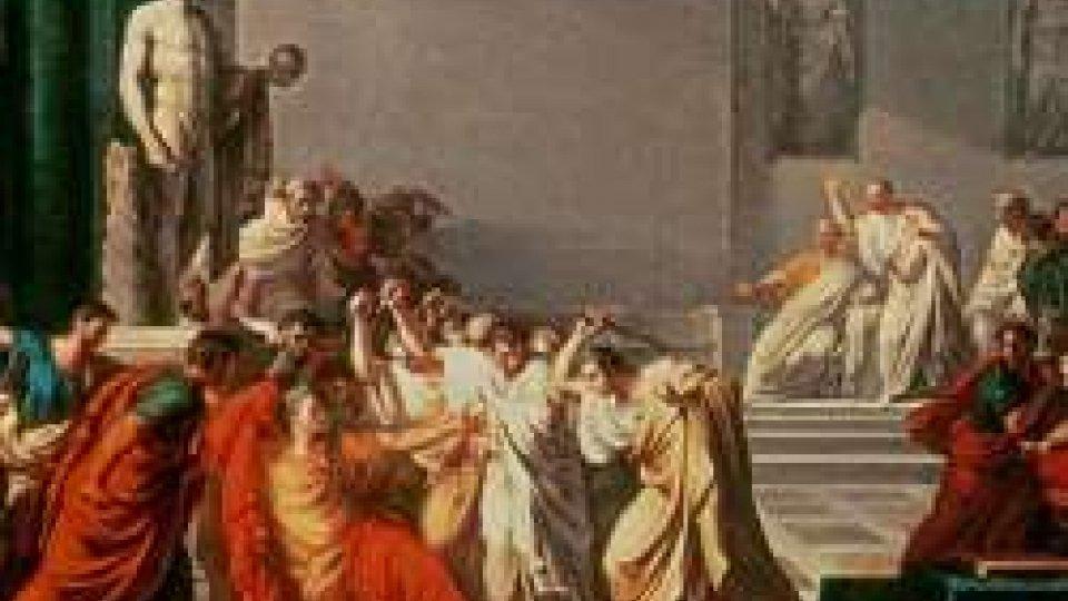 Giulio Cesare cade sotto i pugnali dei cospiratori