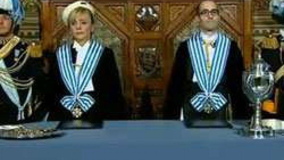 I nuovi Capitani Reggenti1° ottobre: le fasi salienti della cerimonia di insediamento della Reggenza