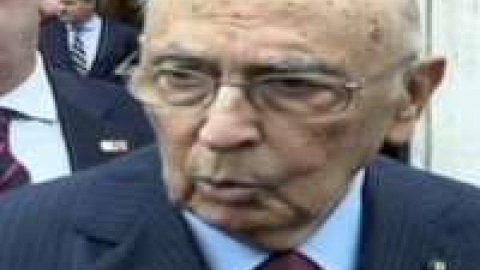 """Napolitano: """"Fare pulizia e risanare la politica"""""""