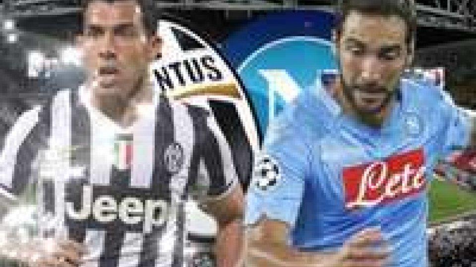 Juve e Napoli in campo in vista della Supercoppa