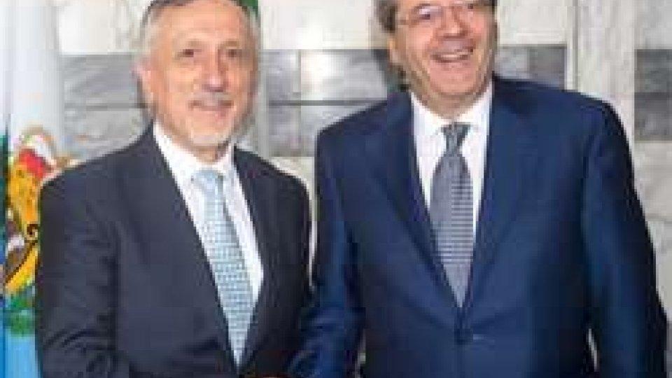 Vertice tra il segretario di Stato Valentini e il ministro Gentiloni: Europa e immigrazione al centro