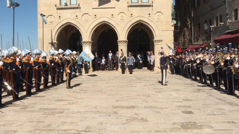 La cerimonia sul PianelloSan Marino, la suggestione della cerimonia dell'Arengo