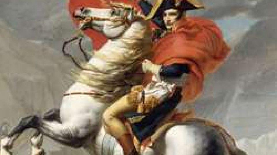 Napoleone sul suo celebre cavallo bianco