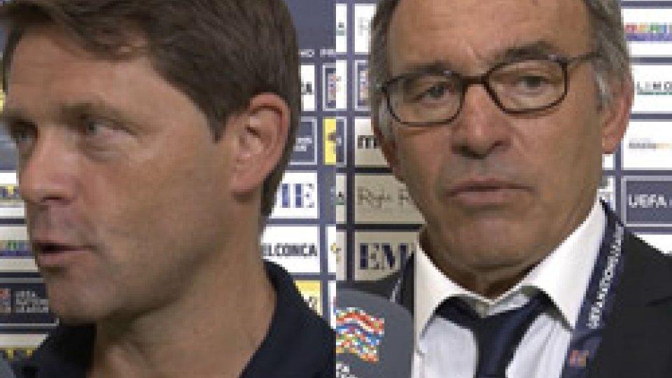 """Holtz e VarrellaHoltz: """"Bella partita del San Marino"""". Varrella: """"La squadra mi sta mostrando la voglia di giocare"""""""