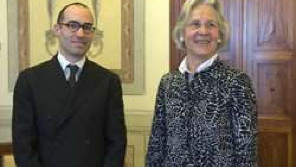Nicola Renzi e l'Ambasciatore Wasum-RainerSan Marino - Germania: il segretario di Stato agli Esteri incontra l'Ambasciatore Wasum-Rainer