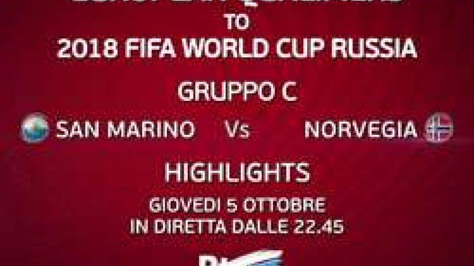 San Marino-Norvegia dalle 22:45San Marino-Norvegia dalle 22:45 il post match su RTVSport