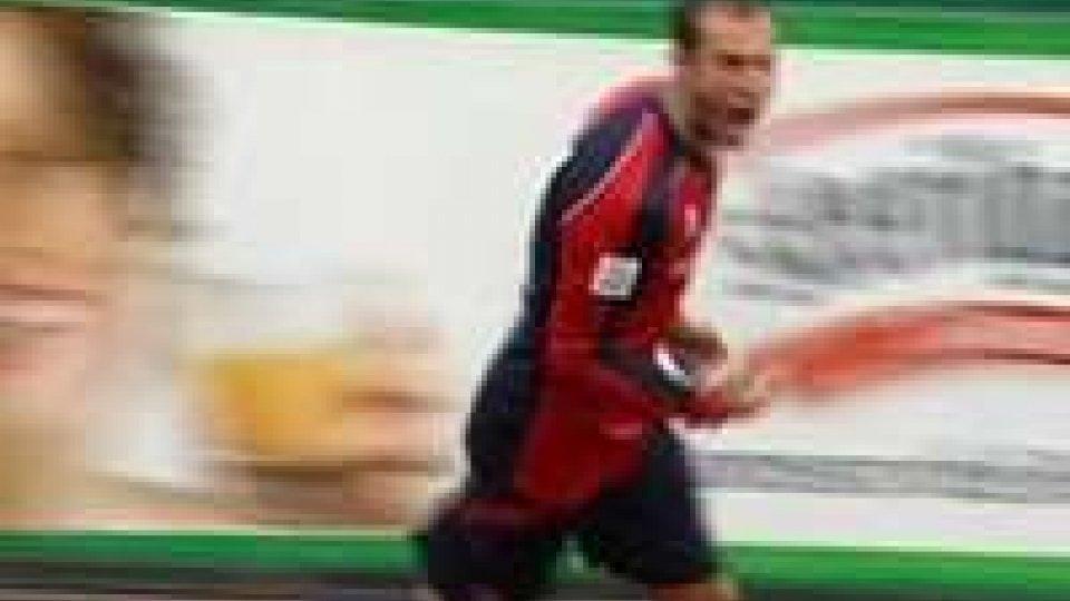 Fausto Ferrari, autore del gol del vantaggio per il Castiglione.Sorpasso Castiglione, il Forlì cade 2-1