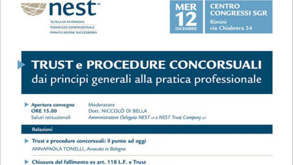 """Nest srl: """"Professionisti a convegno su trust e procedure concorsuali, tra teoria e casi pratici"""""""