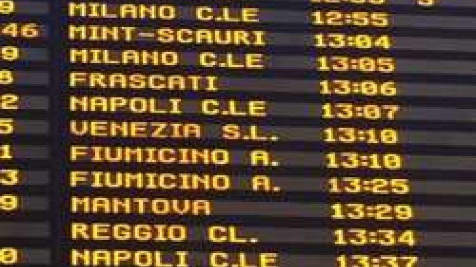 interrotte le linee ferroviarie in Abruzzo